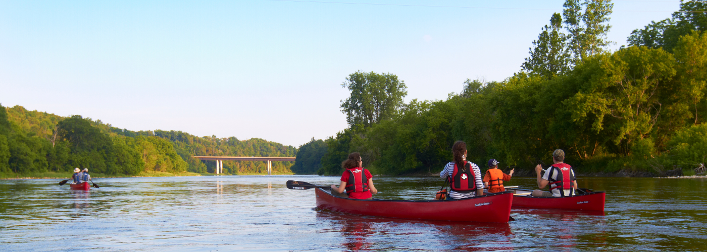 Canoeing on the Grand River